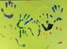 herbstliche Händeabdrucke Ameisen